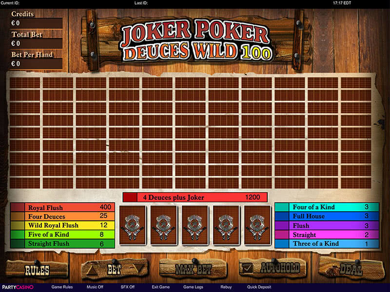 Joker Poker Deuces Wild 100