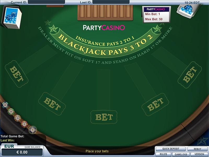 Multi-Hand Las Vegas Downtown Blackjack