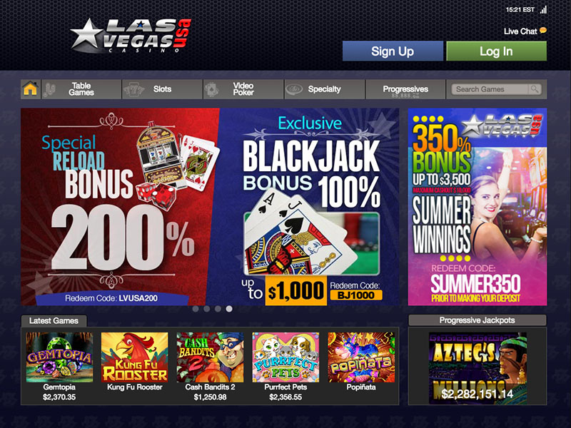 Las Vegas USA Casino Website Homepage