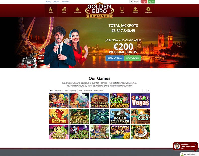 Golden Euro Casino Website Homepage